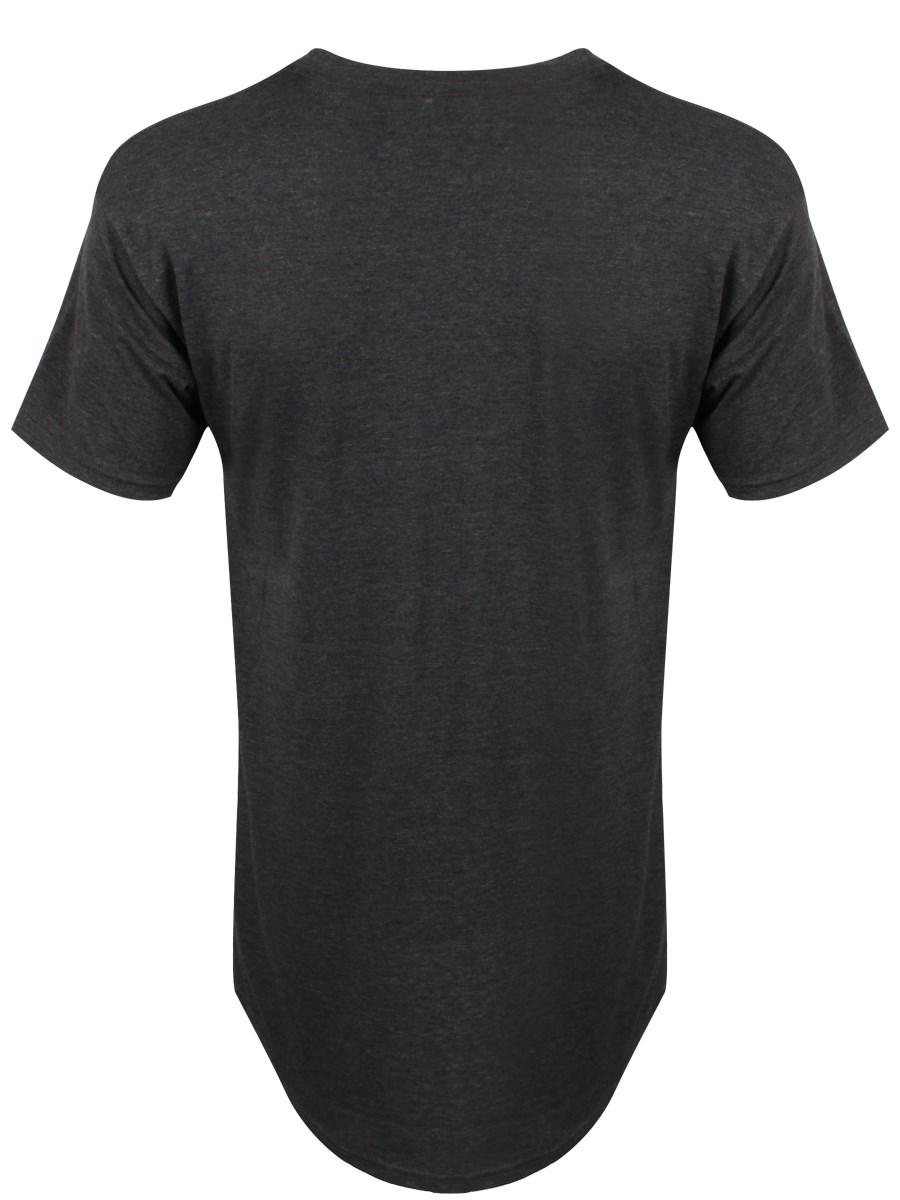 Dark heather long body urban tee men 39 s grey t shirt ebay Mens heather grey t shirt