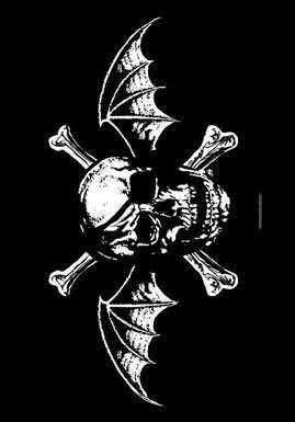 Avenged-Sevenfold-Death-Bat-A7X-Black-Textile-Flag-NEW-OFFICIAL