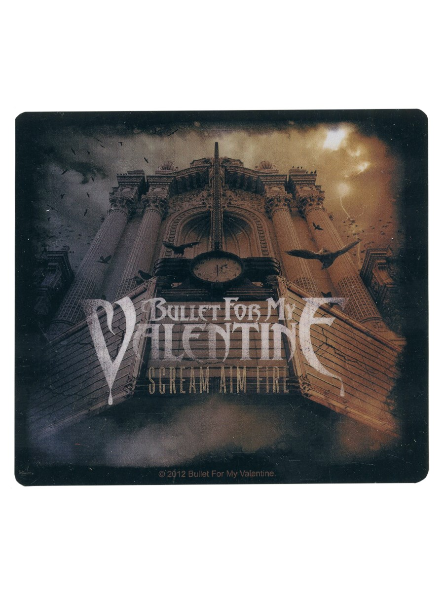 Bullet-For-My-Valentine-Scream-Aim-Fire-BFMV-Sticker-NEW-OFFICIAL