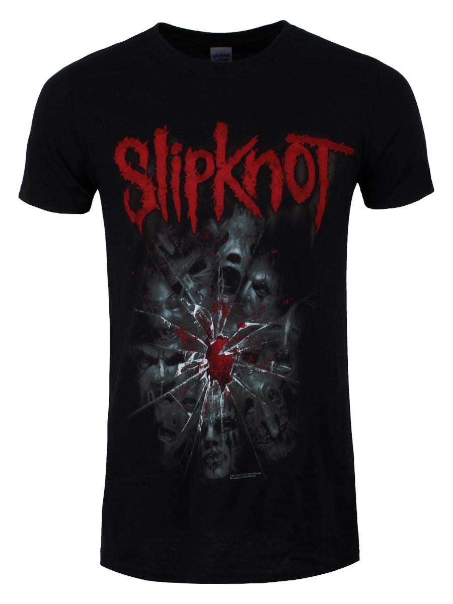 Slipknot-Shattered-Mens-Black-T-Shirt-NEW-amp-OFFICIAL
