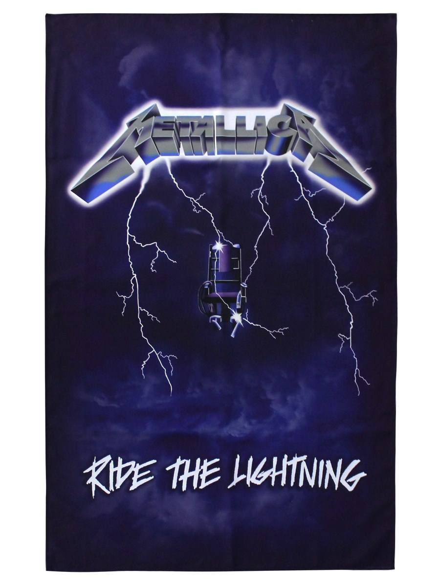 Metallica-Ride-The-Lightning-Textile-Flag-NEW-OFFICIAL