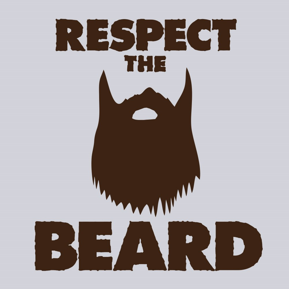 Respect The Beard Men's Grey T-shirt | eBay