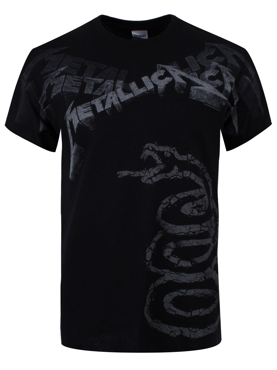 metallica black album faded mens t shirt new official. Black Bedroom Furniture Sets. Home Design Ideas