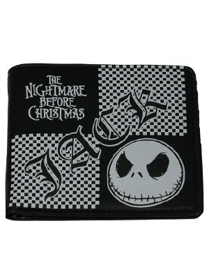 Nightmare Before Christmas Check Jack Wallet - Grindstore.com