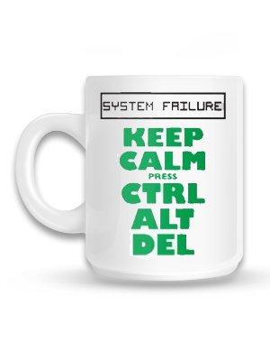 Keep Calm Press Ctrl Alt Del Mug Buy Online At