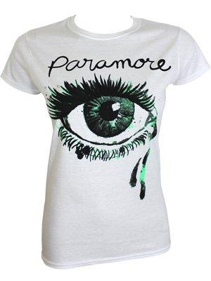 Paramore Crying Eye Ladies White T-Shirt - Offical Band ... Paramore Merch