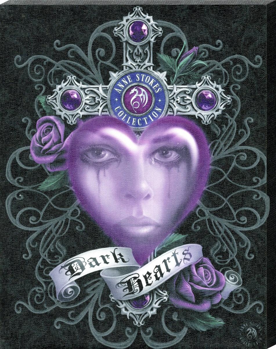 Anne Stokes Dark Heart Canvas Print - 320225-106550