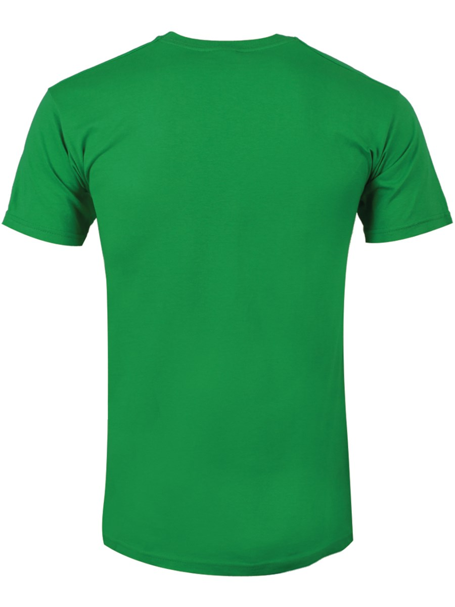 Zombie face men 39 s green t shirt buy online at for Green mens t shirt