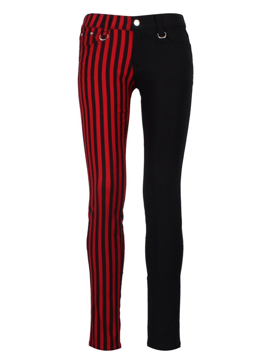 Red Black Skinny Jeans