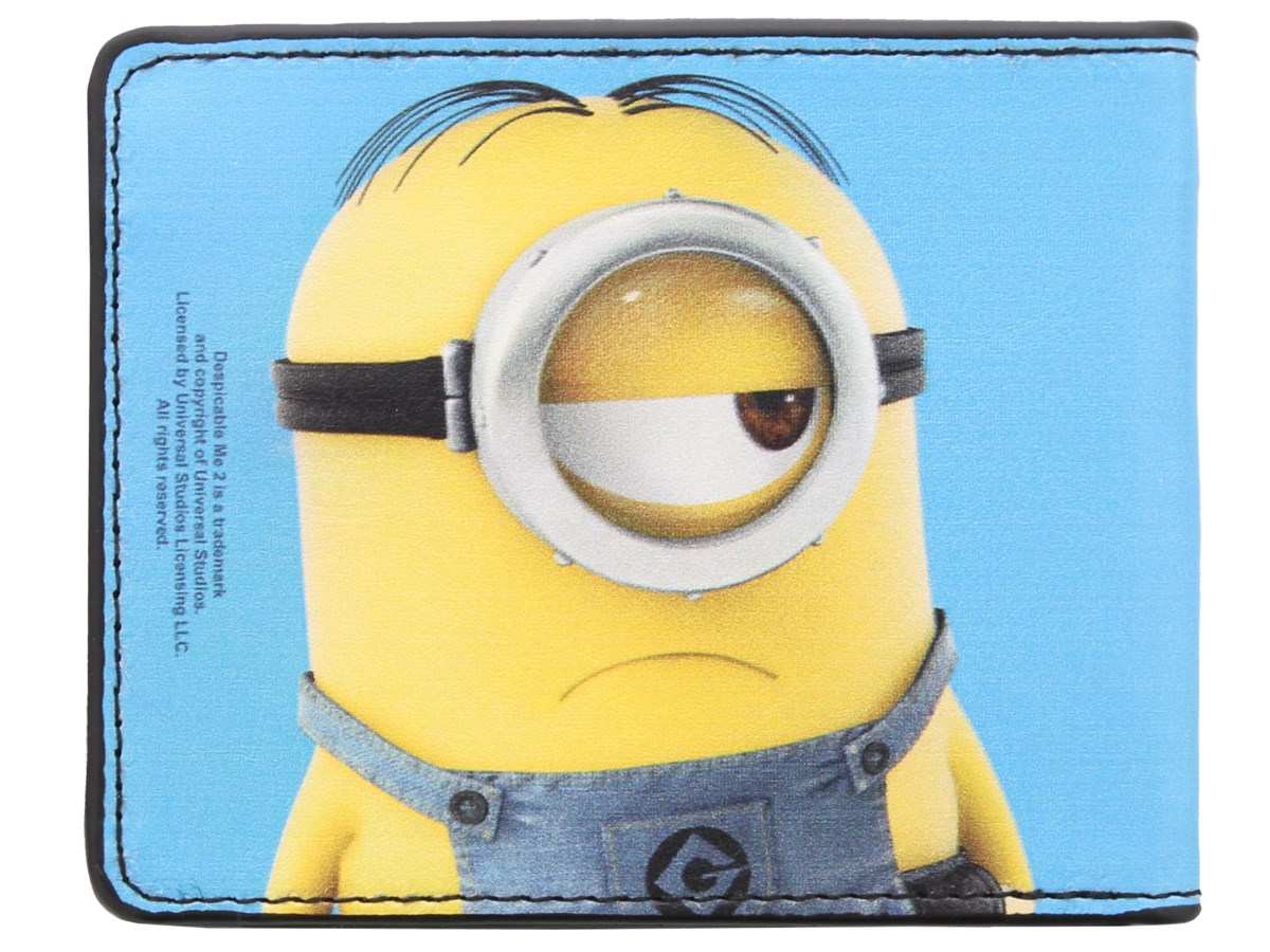 Despicable Me Minion Stuart Smiling & Frowning Wallet ...