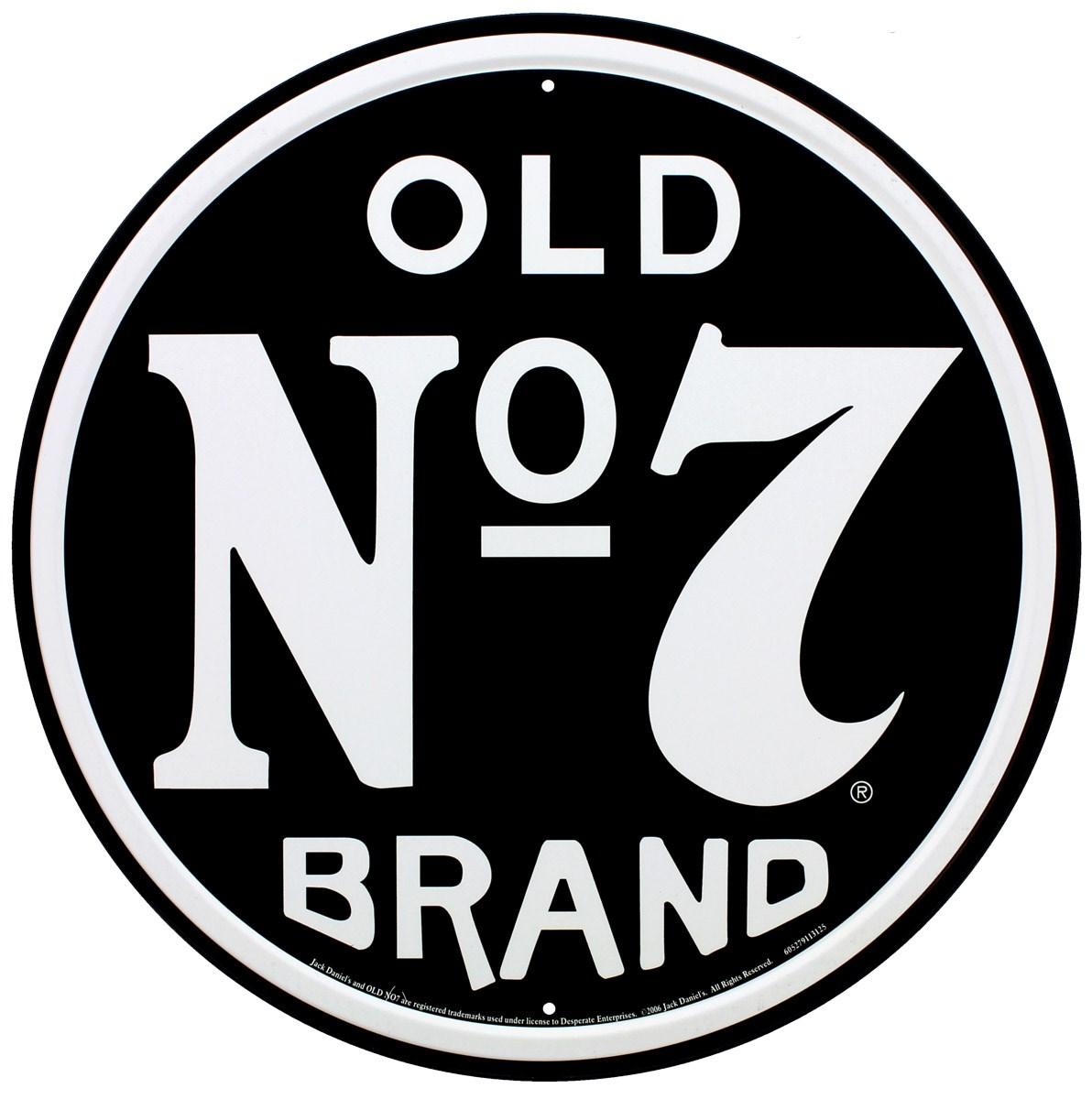 Old No 7 Brand Jack Daniels Tin Sign - Buy Online at ...