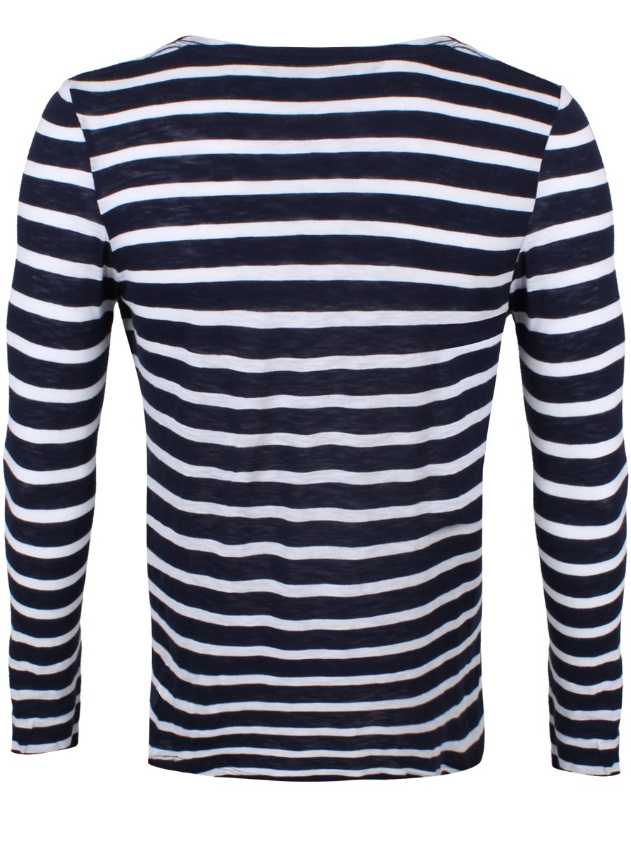 Striped Navy And White Long Sleeved T Shirt Buy Online