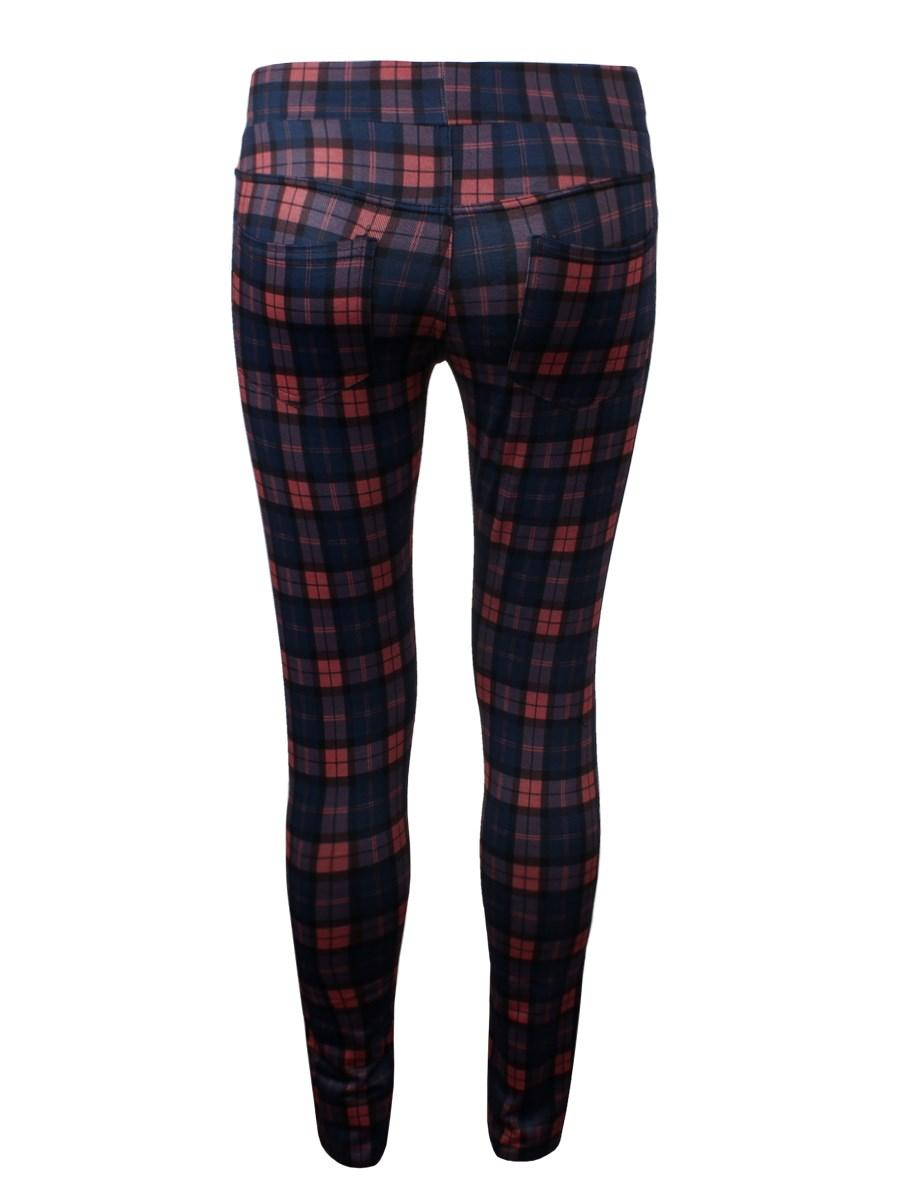 Blue u0026 Red Bristol Plaid Leggings - Buy Online at Grindstore.com