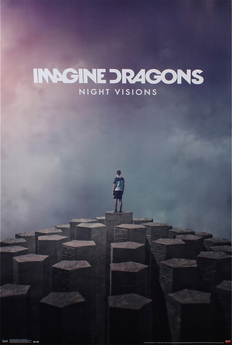 Плакат с imagine dragons
