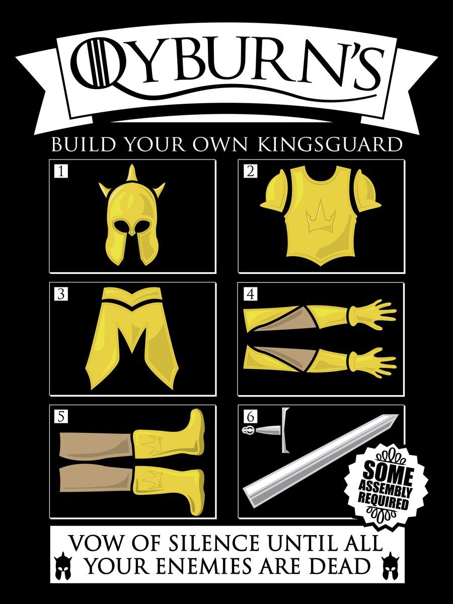 Qyburns Build Your Own Kingsguard Men 39 S Black T Shirt