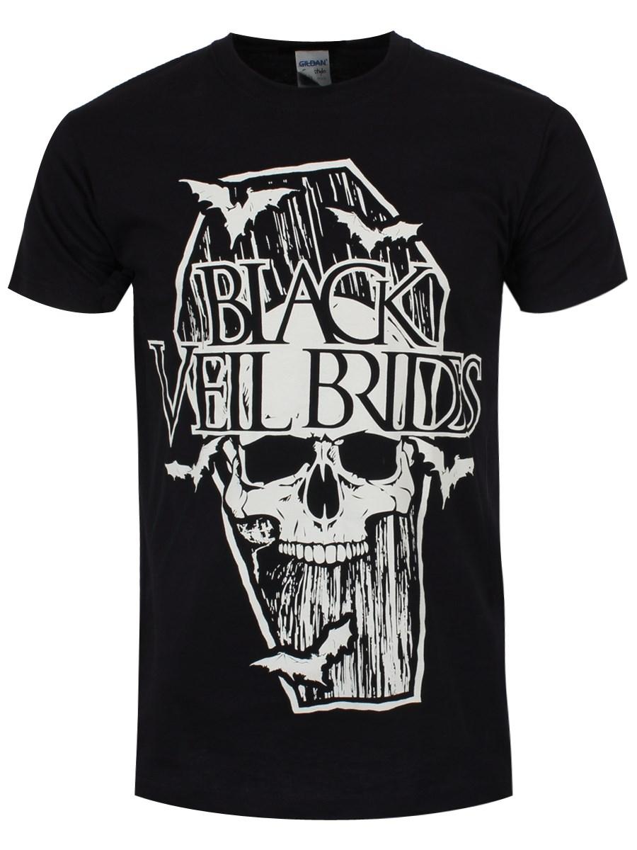 black veil brides coffin men 39 s black t shirt buy online. Black Bedroom Furniture Sets. Home Design Ideas