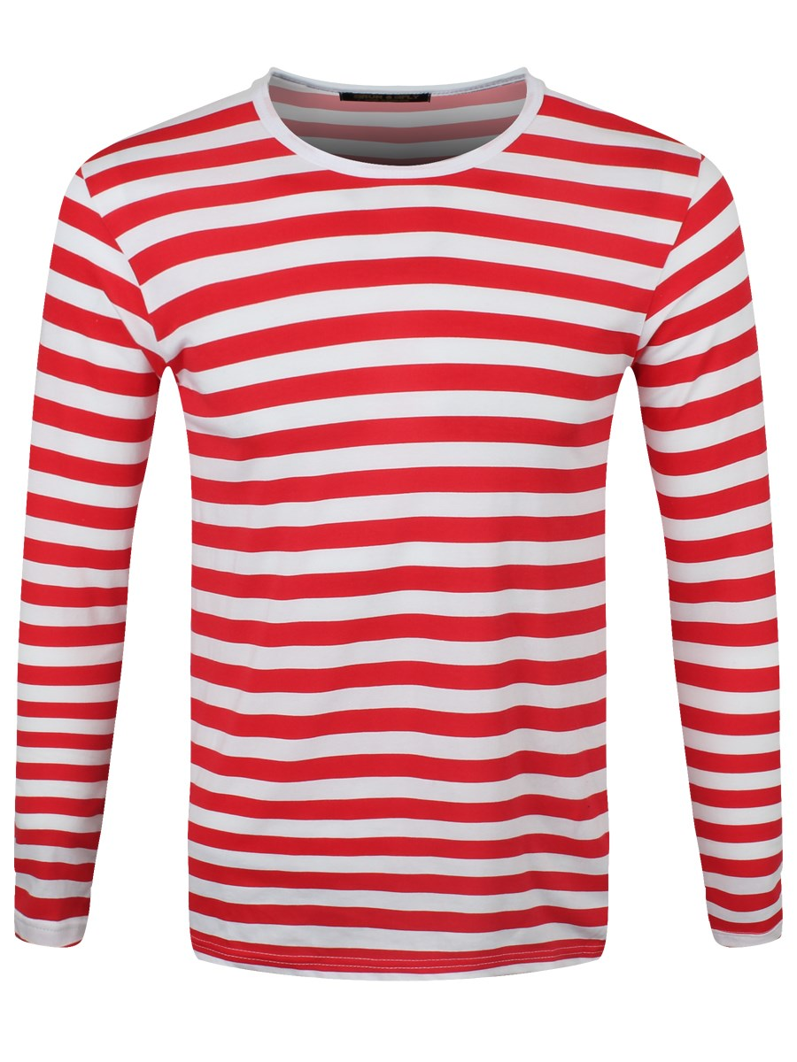 Find red and white striped long sleeve t shirt at ShopStyle. Shop the latest collection of red and white striped long sleeve t shirt from the most.