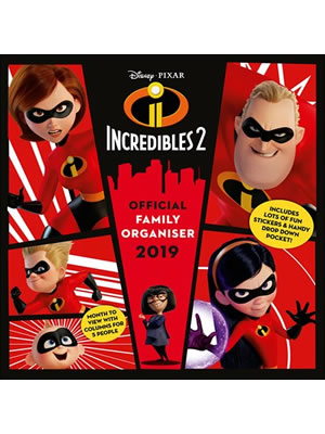 Incredibles 2 2019 Official Family Organiser