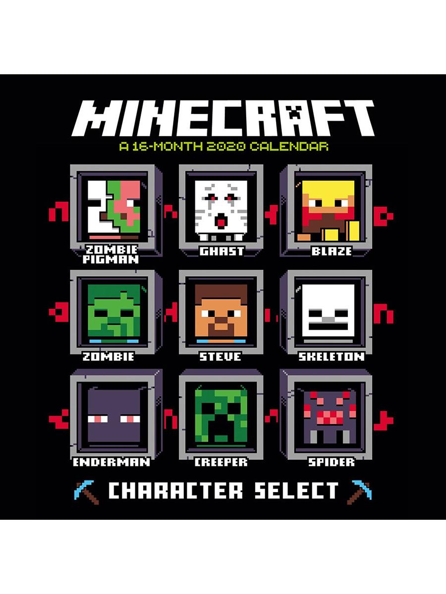 Minecraft 2020 Square Calendar