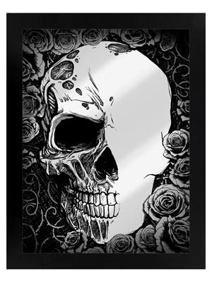 Framed Half Dead Mirrored Tin Sign