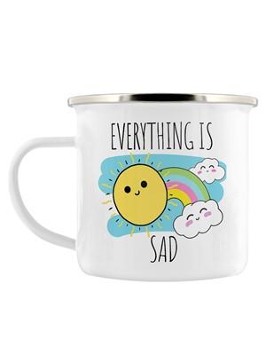 Everything Is Sad Enamel Mug