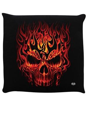 Spiral Skull Blast Black Cushion