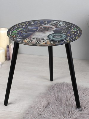 Hocus Pocus Glass Spirit Board Table by Lisa Parker