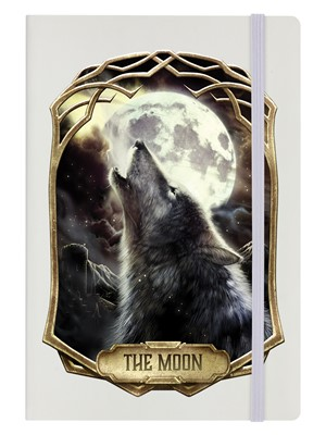Deadly Tarot Obsidian - The Moon Cream A5 Hard Cover Notebook