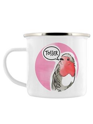 Cute But Abusive - Tosser Enamel Mug