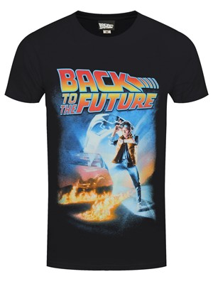 Back To The Future Poster Men's Black T-Shirt