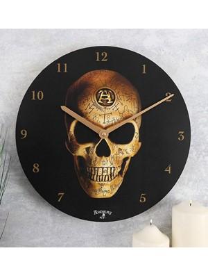Alchemy Omega Skull Wall Clock