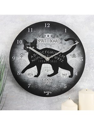 Alchemy Black Cat Spirit Board Wall Clock