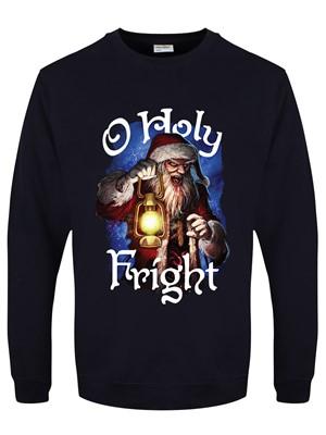 O Holy Fright Men's Navy Blue Christmas Jumper