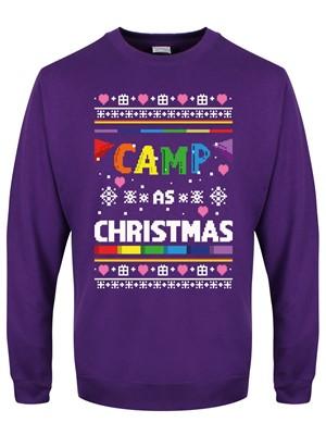 Camp As Christmas Men's Purple Christmas Jumper