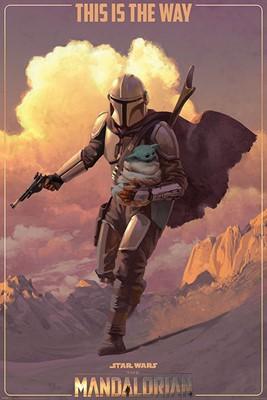 Star Wars The Mandalorian On The Run Maxi Poster
