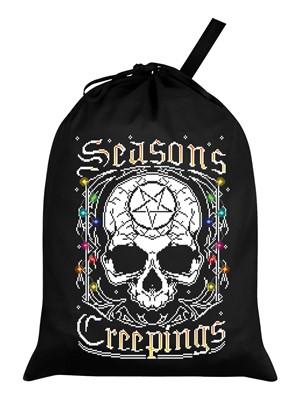 Seasons Creepings Black Santa Sack