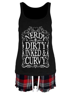 Nerdy Dirty Inked & Curvy Ladies Short Pyjama Set