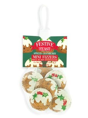 Festive Feast Christmas Pudding Bath Fizzers