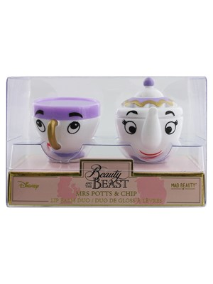 Disney Beauty & The Beast Mrs Potts & Chip Lip Gloss Duo