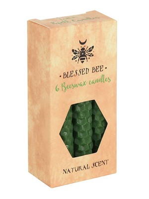 Blessed Bee Green Beeswax Spell Candles - Luck & Vitality
