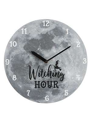 The Witching Hour Wall Clock - Moon