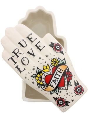 Palmistry Tattoo Trinket Box - True Love