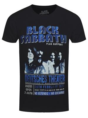 Black Sabbath Deutsches '73 Men's Black 100% Recycled Eco T-Shirt
