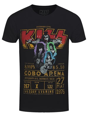 Kiss Cobo Arena '76 Men's Black 100% Recycled Eco T-Shirt