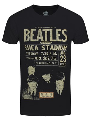 Beatles Shea '66 Men's Black 100% Recycled Eco T-Shirt