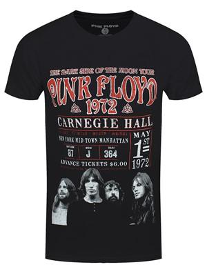 Pink Floyd Carnegie '72 Men's Black 100% Recycled Eco T-Shirt