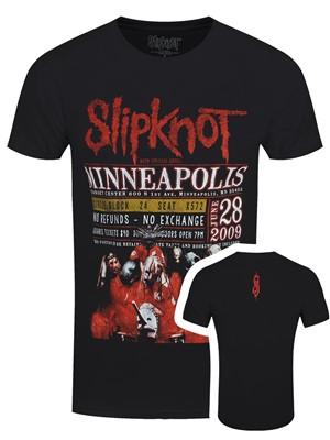 Slipknot Minneopolis '09 Men's Black 100% Recycled Eco T-Shirt