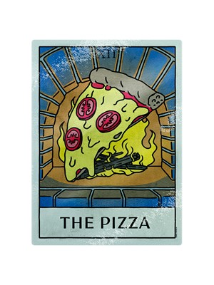 Deadly Tarot Life - The Pizza Glass Chopping Board