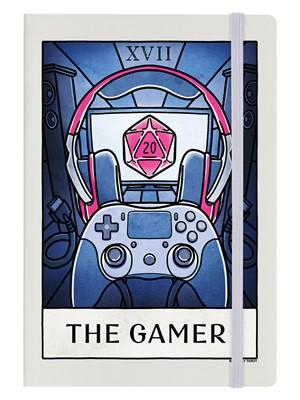 Deadly Tarot Life - The Gamer Cream A5 Hard Cover Notebook