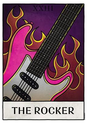 Deadly Tarot Life - The Rocker Mini Poster